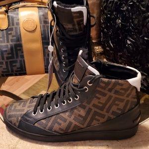 Authentic Fendi FF Zucca boots